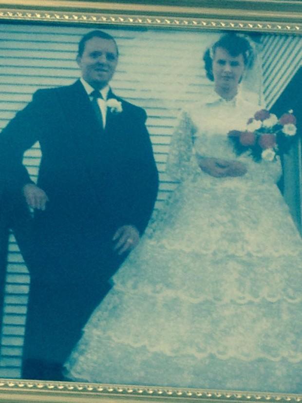 Mike et Priscilla Dicks, le jour de leur mariage en 1960