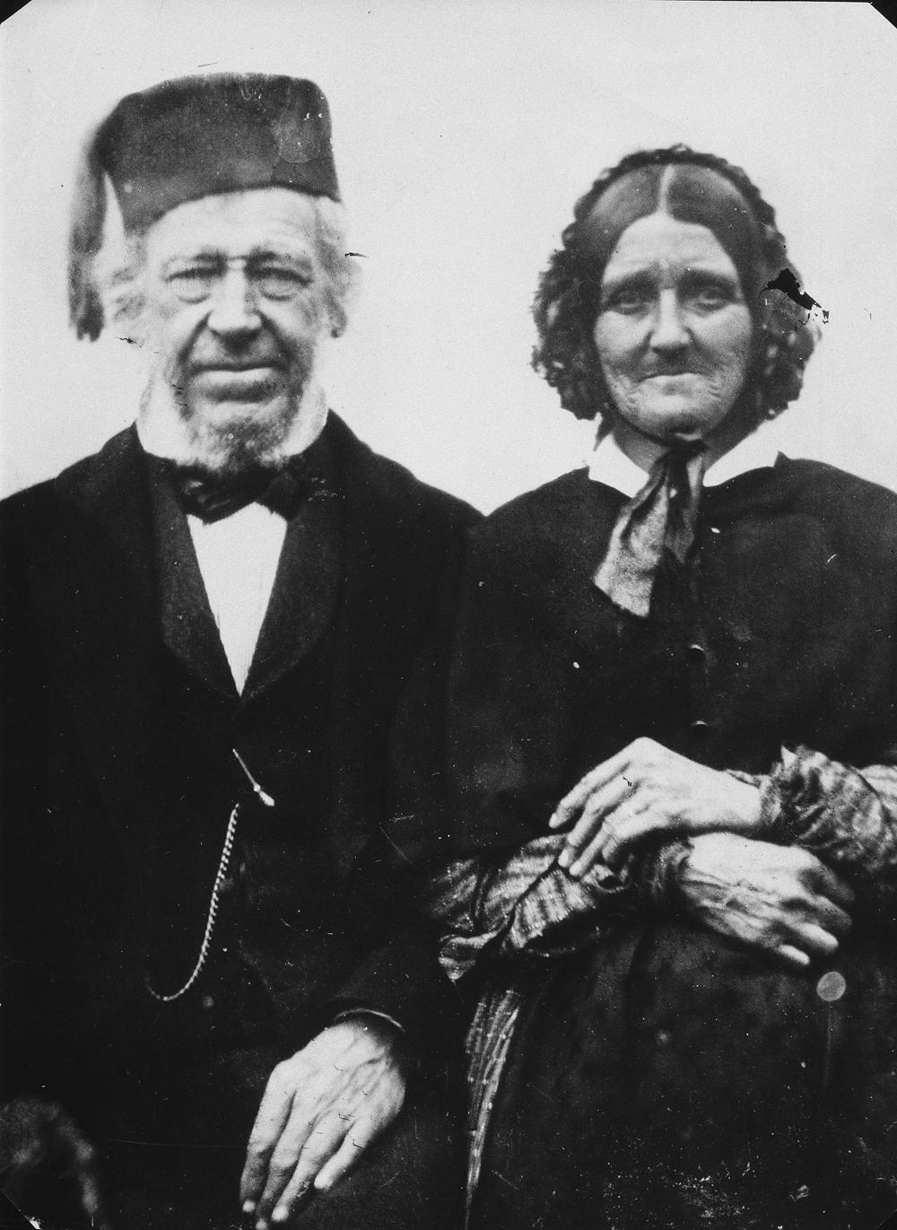 Photo de Richard Hardisty, père et de Marguerite Sutherland.