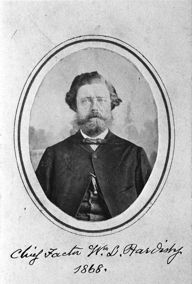 Photo du père de Belle, William Hardisty, en 1868