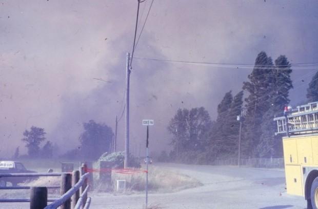 Incendie au nord du chemin Edes.