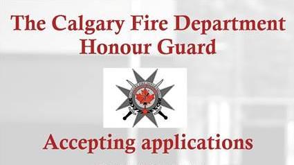 Une affiche de recrutement de la garde d'honneur du service d'incendie de Calgary