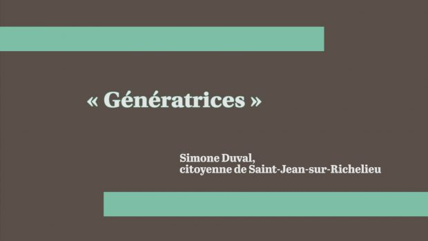 « Génératrices »