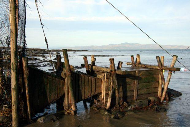 Deux entonnoirs en bois au bout desquels se trouve un gros coffre aussi en bois et dans lequel les anguilles restent captives dans la pêche. Ces entonnoirs sont appelés : ansillon et bourrole.