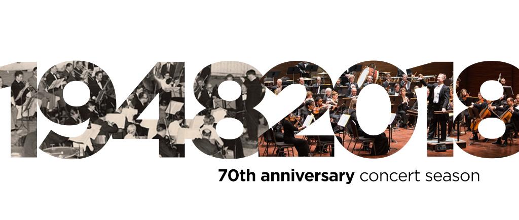 1948 à 2018 : Un anniversaire célébrant la 70e saison de concerts