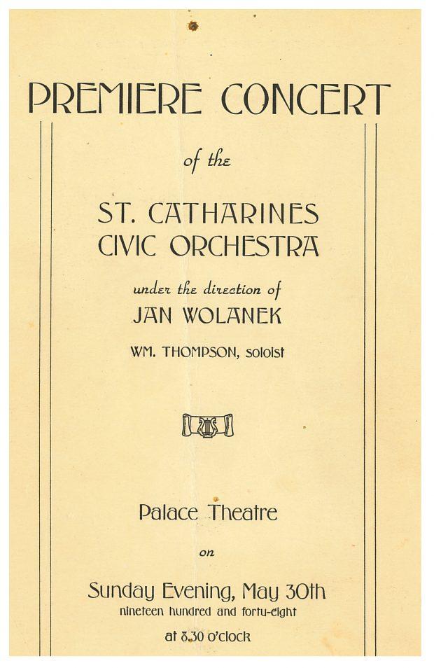 La couverture du programme du premier concert