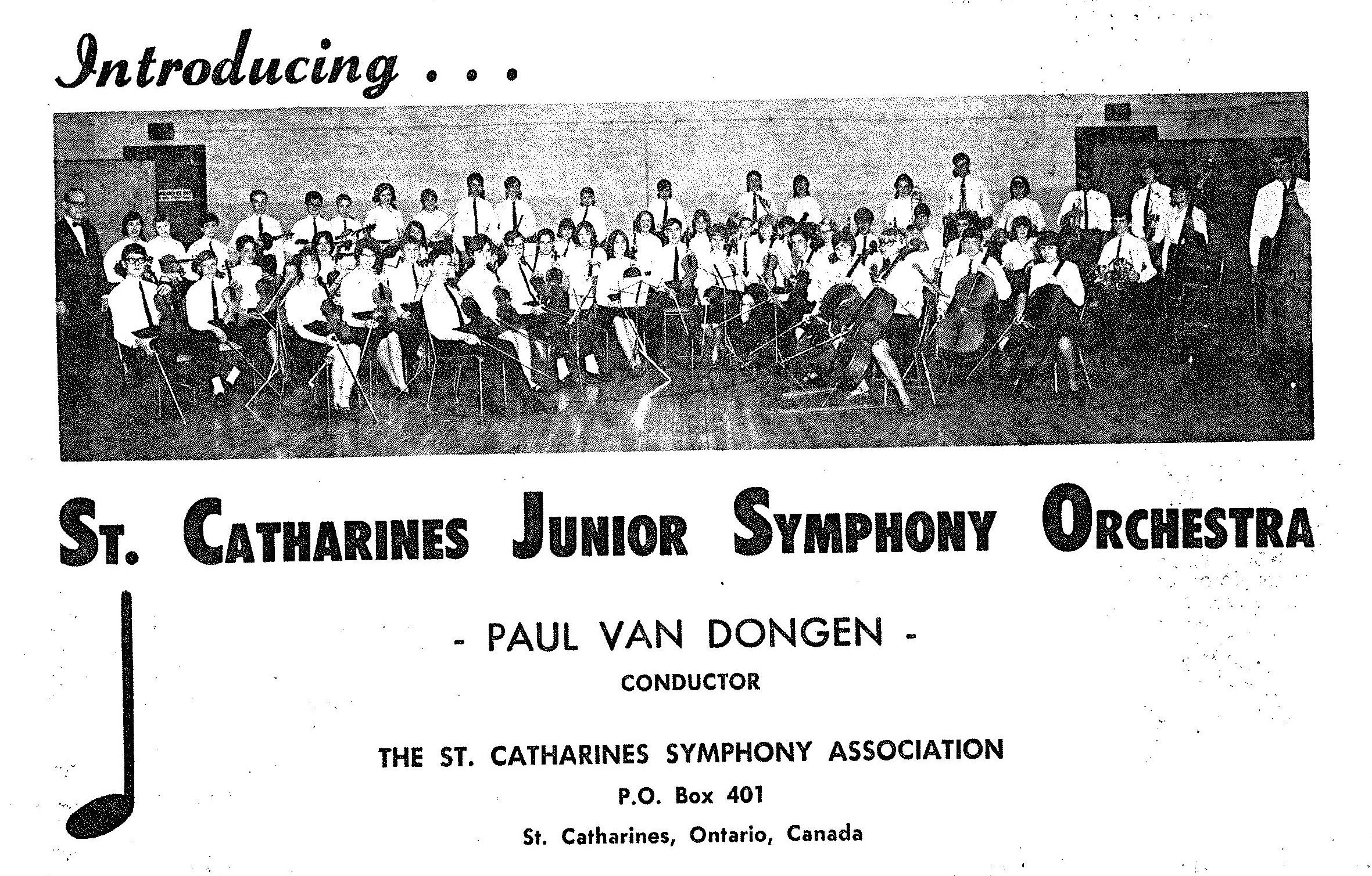 La première photo de l'Orchestre symphonique des juniors.
