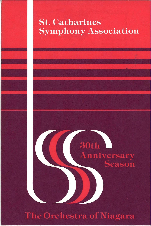 Le programme du 30ième anniversaire en rouge et violet