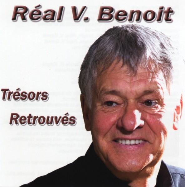 Pochette de l'album Trésor Retrouvés de Réal V. Benoit sur laquelle nous pouvons voir le visage de l'artiste.
