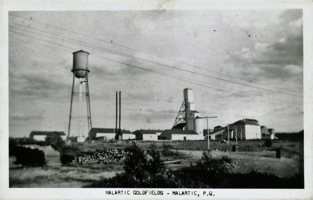 Photo ancienne de la mine Malartic Goldfield Limited