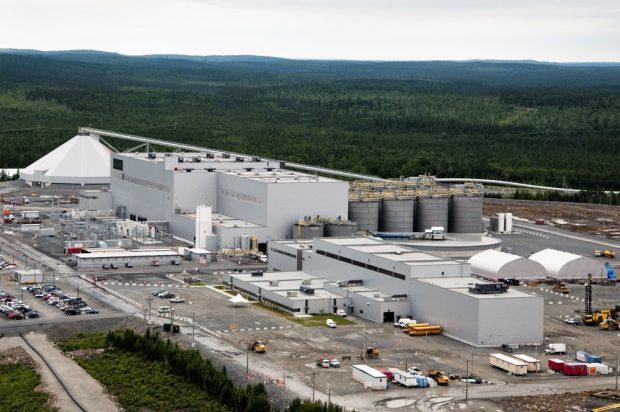 Vue de l'usine de la mine Canadian Malartic