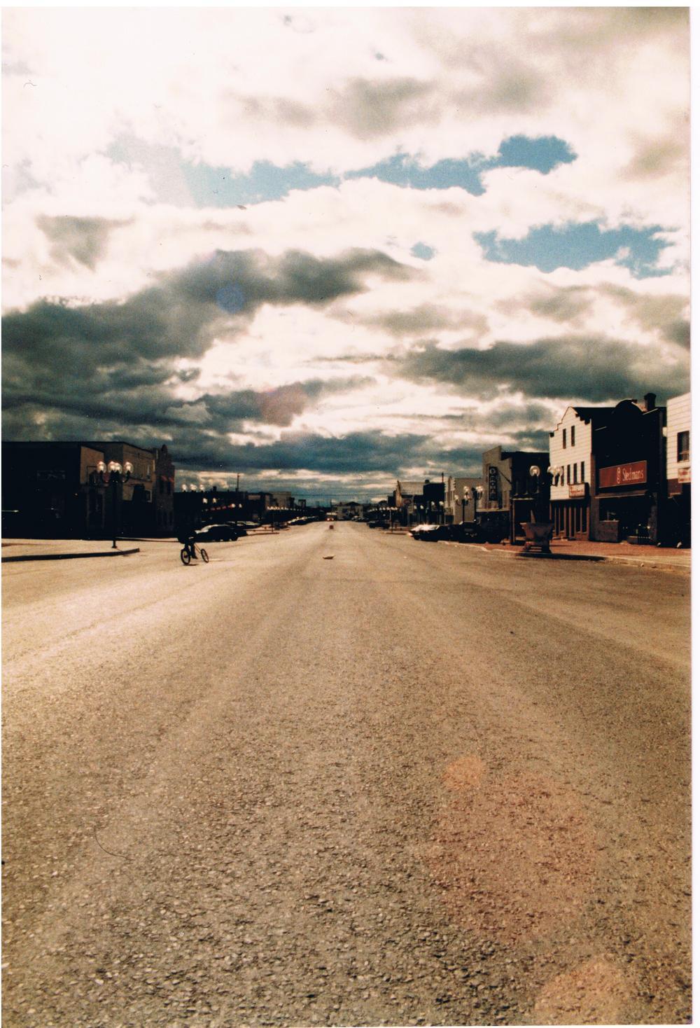 Vue de la rue Royale de Malartic dans les années 1980-1990