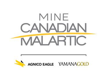 Logo de la mine Canadian Malartic 2014
