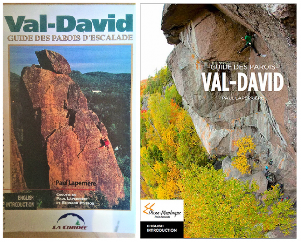 Book covers of the crags of Val-David