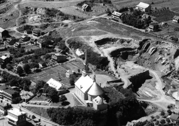 Vue aérienne de Château-Richer au milieu du 20e siècle